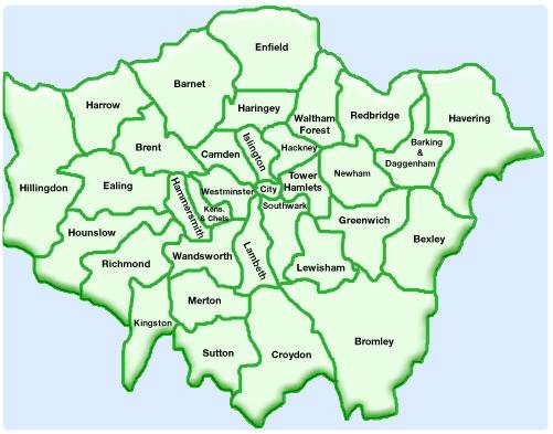 Cartina Dei Quartieri Di Londra.Dove Affittare A Londra
